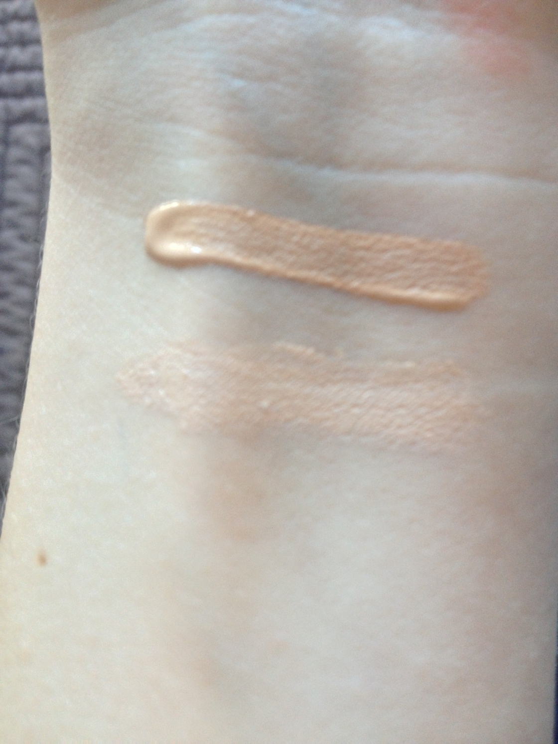 top - Maybelline, bottom - Rimmel