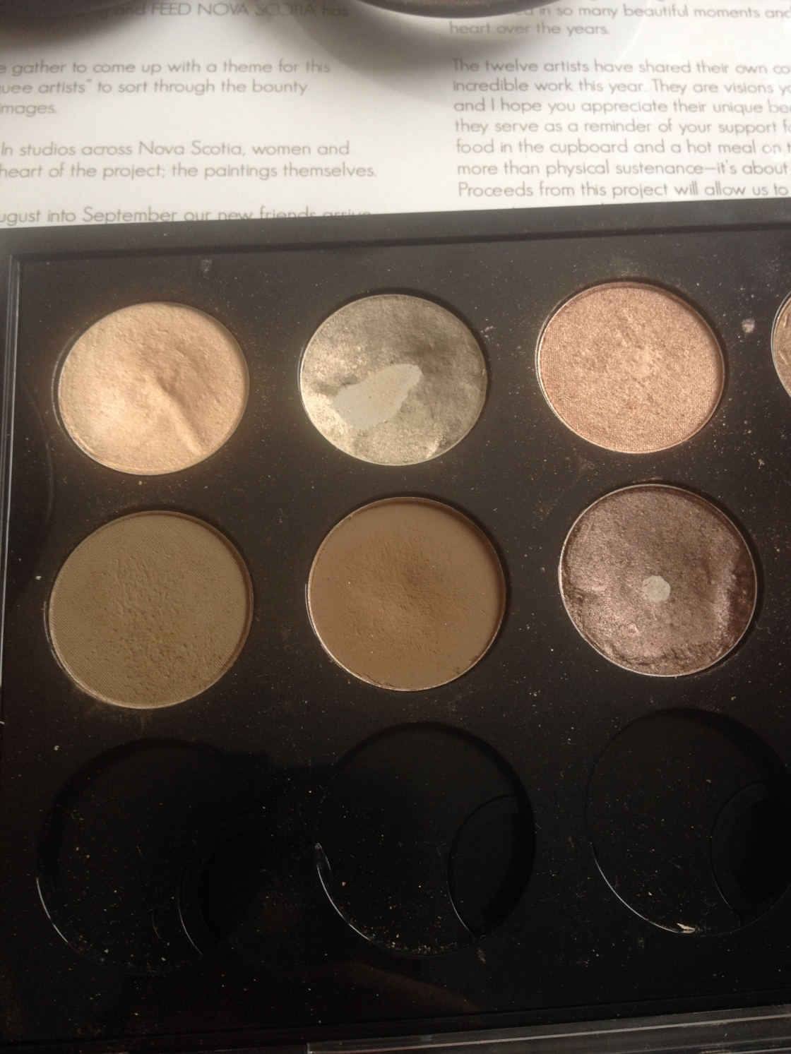 top: Dazzlelight, Vex, All That Glitters bottom: Coquette, Charcoal Brown, Satin Taupe