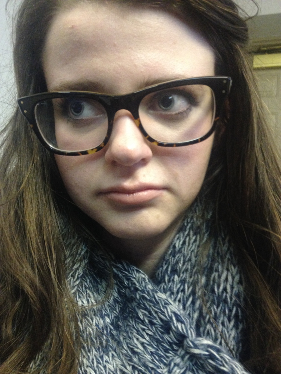 holed up in the library again and indeed, I do wear glasses and warning I'm not actually wearing foundation here
