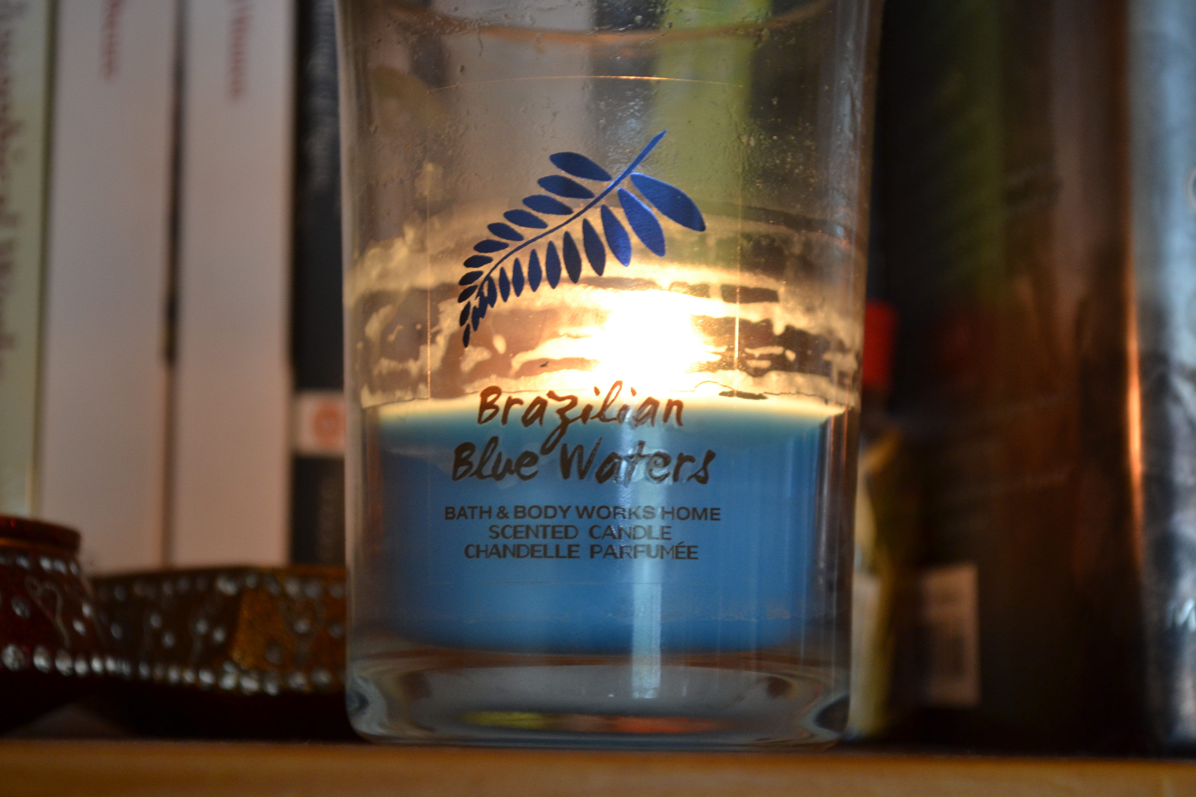 The Review Bath Body Works Medium Candle In Brazilian Blue