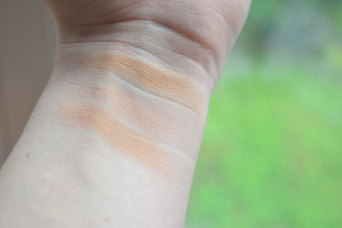the bronzing shade | the blush crescent | a blend of the two